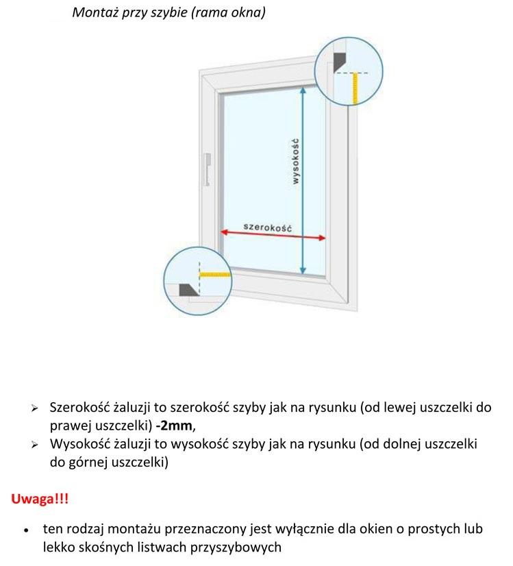Instrukcja pomiaru żaluzji aluminiowej