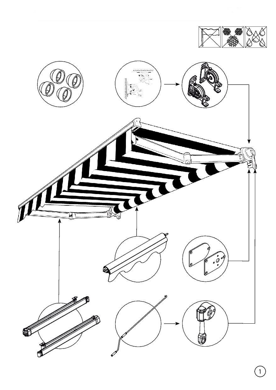 Instrukcja montażu markizy tarasowej Malta