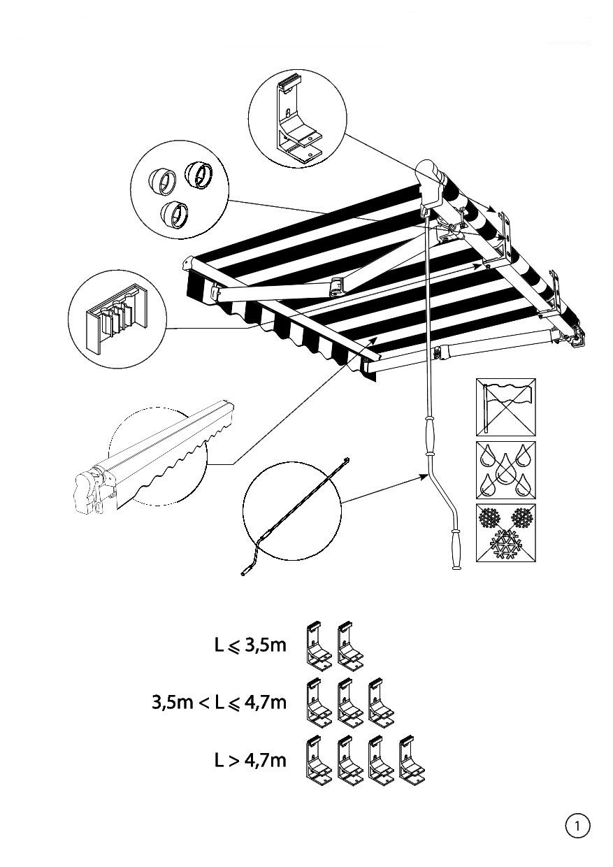Instrukcja montażu markizy tarasowej Silver Plus