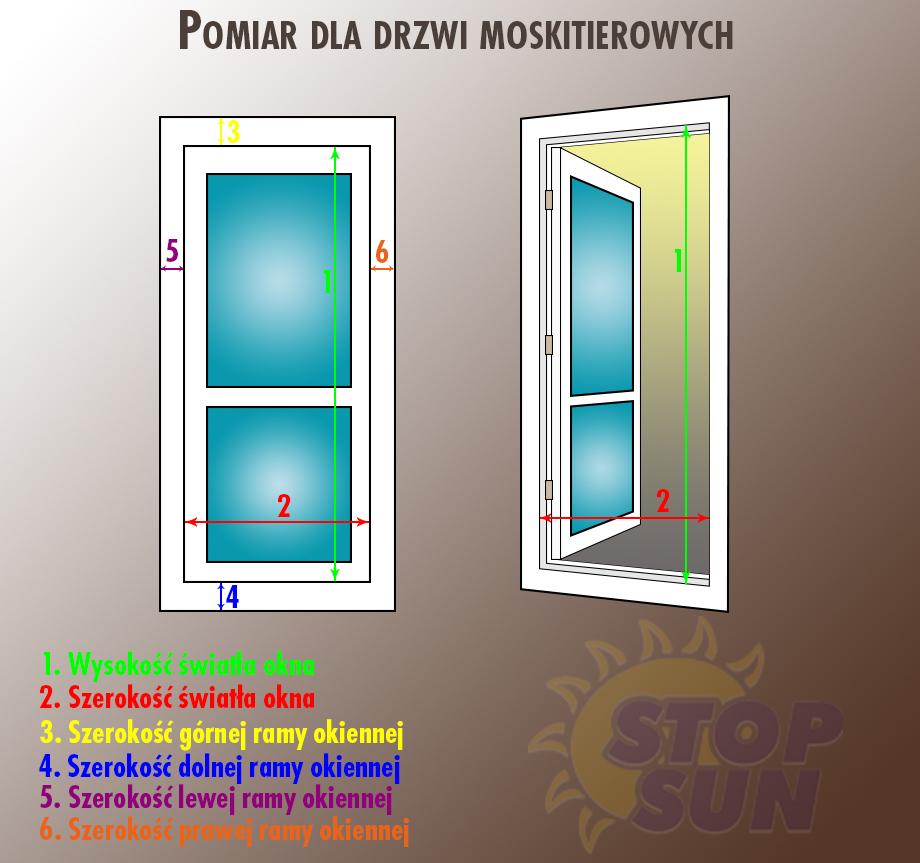 Instrukcja pomiaru drzwi moskitierowych