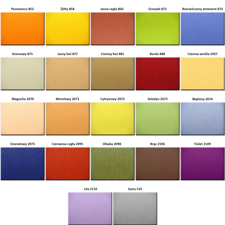 Kolory tkanin płotek