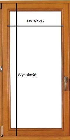 Pomiar okna pod plisę