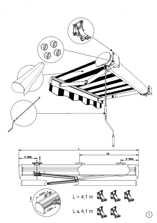 montaż markizy Sobra 1